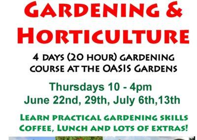 OASIS Gardening Course 2017